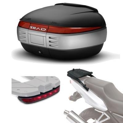 Sh50luhe20 - fitting kit + suitcase rear trunk + brake light gift sh50 compatible with ktm duke 125/390 17 ktm duke 390 2017-2017 ktm duke 200 2017-2017 ktm duke 125 2017-2017
