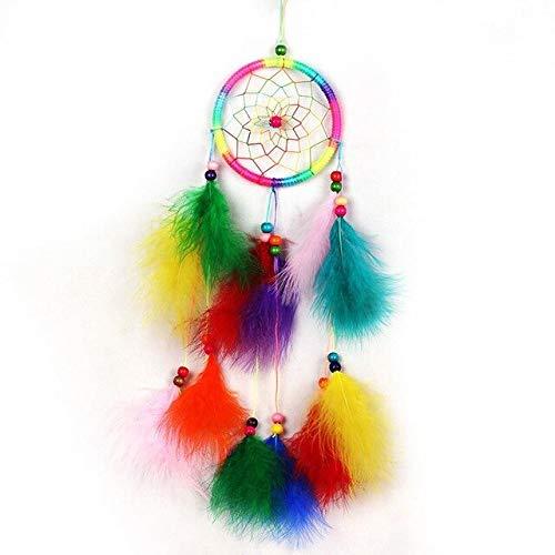 BDWS Traumfänger Novo Vento sinos artesanais indiano sonho apanhador net com penas 55 cm Parede pendurado Dreamcatcher artesanato Presente decoração para casa # bwA
