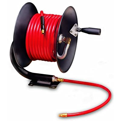 "Legacy Manufacturing L8650 Workforce Series Manual Air Hose Reel with 3/8"" ID x 50' Hose"