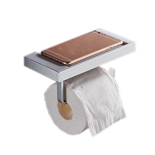 LI LU SHOP Spazio Bagno in Alluminio Bagno per Toilette Hotel Telaio di Carta Telaio Mobile Telefono (Colore : C)