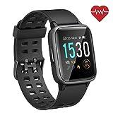 SmartWatch für Android iOS Phone 2019 Version IP68 Wasserdicht, ANGGO Fitness Tracker Uhr mit Schrittzähler Pulsmesser Schlaf Tracker, Sportuhr Kompatibel mit iPhone Samsung für Männer Frauen Kinder.