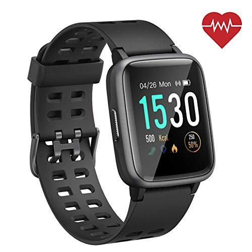 ANGGO Smartwatch Orologio Fitness Uomo Donna Impermeabile IP68 Smart Watch Cardiofrequenzimetro da Polso Contapassi Smartband Activity Tracker Bambini Cronometro per Android iOS Huawei Samsung iPhone