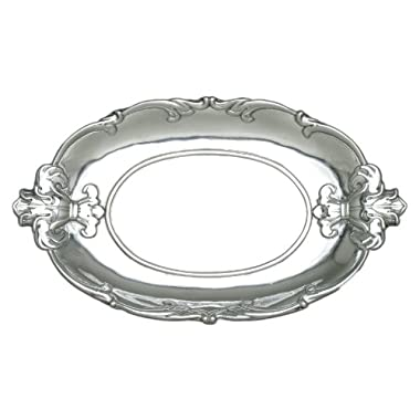 Arthur Court Fleur-De-Lis Oval Tray, 13-Inch