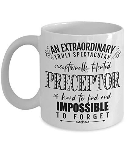 Tazas divertidas: preceptor extraordinario imposible de olvidar, taza de regalo de agradecimiento para enfermera, farmacia, ICU NCLEX, taza de cerámica de 11 oz