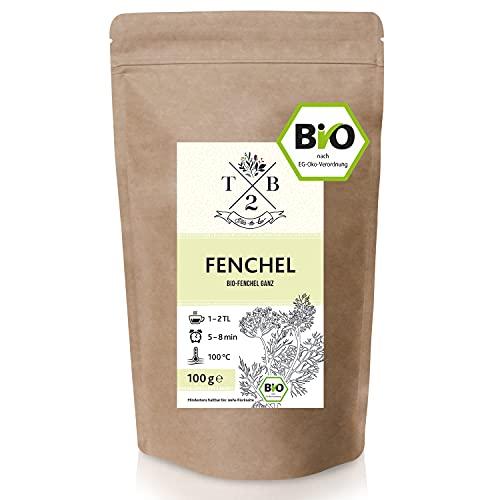 Fencheltee Bio 100g   100% lose Fenchelsamen   Süß und würzig, für Fenchel Anis Kümmel Tee oder Babytee   T2B