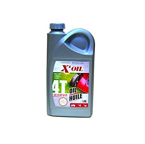 Greenstar 10060 4-takt motorolie SAE30 X'Oil in jerrycan 1,4 L zwart.