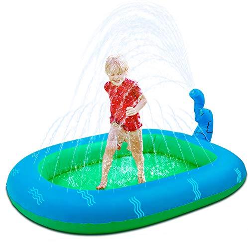 WOGOON Inflatable Sprinkler Pool Water Toys for Kids, 3-in-1 Upgraded Wading Splash Pool, Summer Innovative Kiddie Pool Outdoor Backyard Fountain...