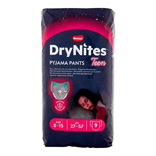 Huggies Drynites Mutandine Assorbenti per La Notte per Bambina, 8 - 15 Anni, 27 - 57kg, Confezione...