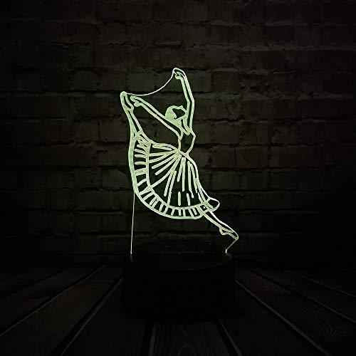 Modern Dance Tänzerin 3D Licht Nacht Usb Led Beleuchtung Weihnachten Dekorieren Leuchte Freundschaft Laterne