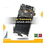 Pantalla LCD De Montaje 5.0 '' LCD Fit For SAMSUNG GALAXY S4 GT-I9505 I9500 I9505 I9506 I9515 I337 Pantalla LCD Con Pantalla Táctil De Marco Digitalizador Ajustado Pantalla de reemplazo de teléfono FF