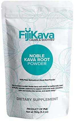 FijiKava, Instant Extract Powder from 100% Certified Noble Kava from Fiji, Premium Quality, Induces Sleep, Supports Muscle Relaxation and Calms & Soothes The Nerves (150g Pouch)
