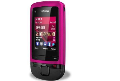 "Nokia C2-05 - Teléfono móvil (5,08 cm (2""), 320 x 240 Pixeles, LCD, microSD (TransFlash), 10 MB, 32 GB) Negro, Rosa"