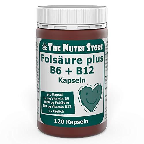 Folsäure + B12 + B6 Kapseln 120 Stk. - Bei einem Mangel an Vitamin B6, B12 und Folsäure