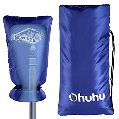 """Ohuhu Outdoor Faucet Cover for Winter, 19.5"""" x 10"""" Long Faucet Sock for Freeze Protection, Outside Large Tap Cover Heavy Duty Faucet Protector"""