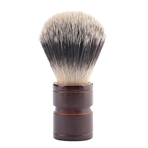 Jingyi Brosse à Barbe, Taille et Poids légers, 2 Couleurs Outil de Rasage à Barbe Brosse à Barbe pour Hommes Brosse à Cheveux en Nylon Brosse à Moustache(Marron)