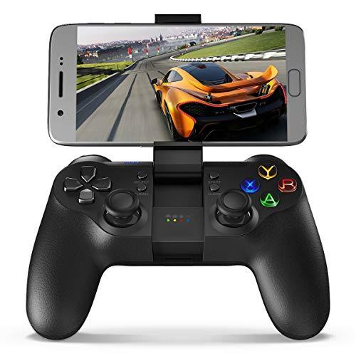 ZHD&CC Mando inalámbrico Bluetooth Gamepad Android, PC Gaming Palanca de Mando con Cable USB, Controlador de PS3 para Android iPhone iPad Samsung Galaxy Otro teléfono