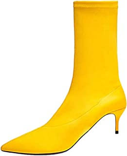 RizaBina Women Fashion Kitten Heel Ankle Booties Pull on