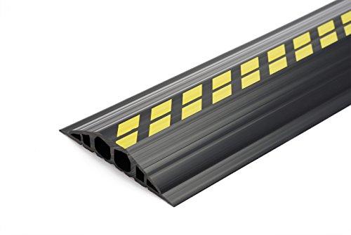 EHA 46022 Industriekabelbrücken, 1,5 m-Set, 200mm breit, 35mm hoch, gelb/schwarz