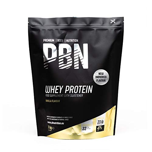 PBN - Premium Body Nutrition Whey Protein 1kg Vanilla, New Improved Flavour