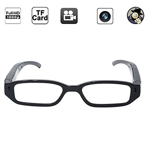 Camara Espia Gafas Camaras 1080P HD TANGMI Cámara Oculta Ponible con Tarjeta de Memoria de 8GB