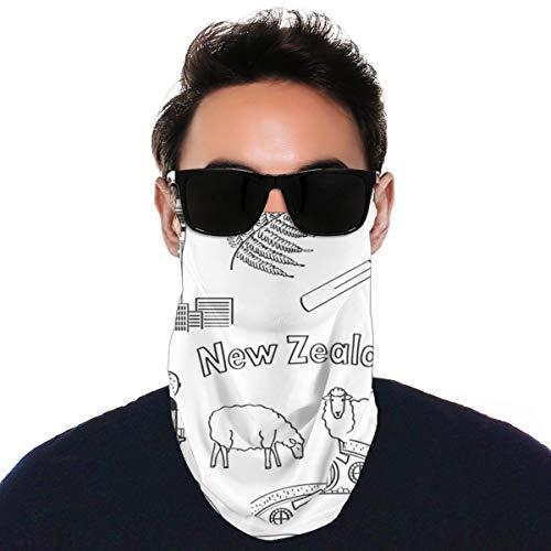 Sammlung Handzeichnungen Neuseeland Verschiedenes Vielseitige Multifunktions-Kopfbedeckung Halsmanschette Sturmhaube Helm Innenschuh Riding Face Cover Für Kinder Frauen Männer Im Freien UV-Schutz