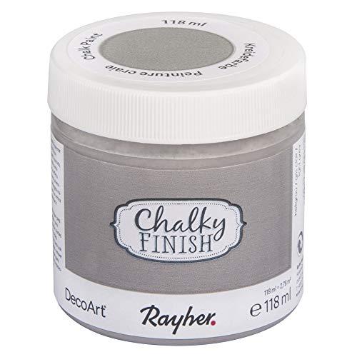 Rayher 38867560 Chalky Finish, hellgrau, Dose 118ml