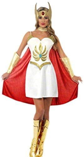 erdbeerloft - Damen She-Ra Masters of Universe Kriegerprinzessin Kostüm, S, Mehrfarbig