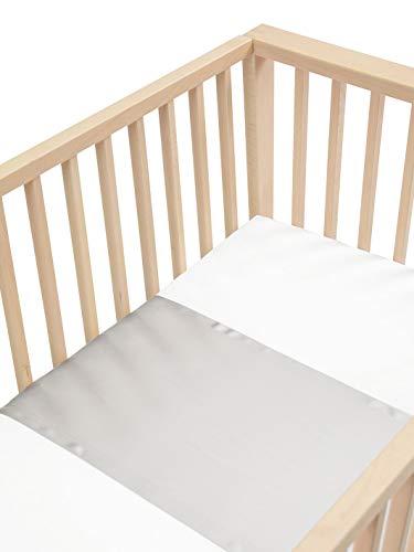 Sleepy Silk – 25 Momme Maulbeerseide für Babybetten, keine kahlen Stellen oder Haarausfall für Neugeborene, hypoallergen und perfekt für empfindliche Haut, SIDS sicheres Design, Taubengrau