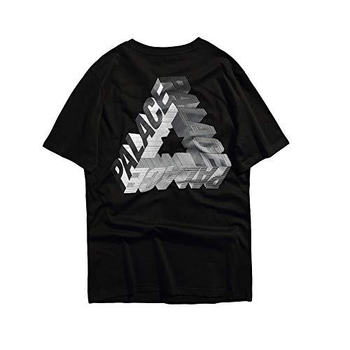 Getijdenmerk Stereoscopische grote driehoek LOGO Print paren Skateboards T-Shirt Zomer heren en dames katoenen ronde hals korte mouw