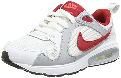 Nike Air Max Trax (PS), Low-Top Sneaker Unisex - bambino, (Multicolor (White/Gym Red/Bright Crimson/Wolf Grey)), 32