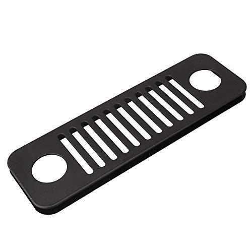 Yibuy Rejilla de ventilación extraíble de color negro.