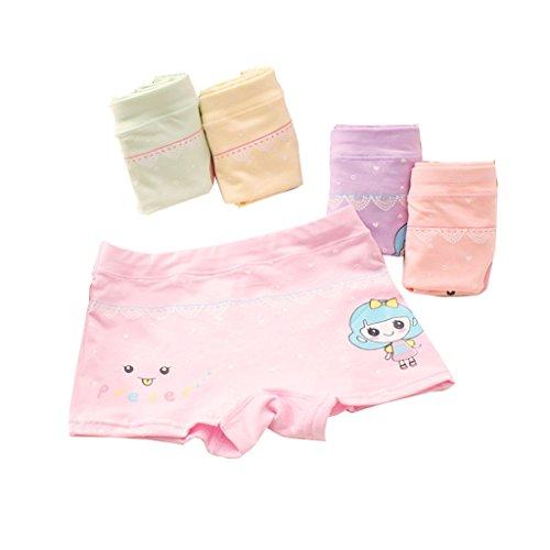 Chic Bequem Mädchen 5Pcs Lustige Pants Komforte Unterwäsche Unterhosen