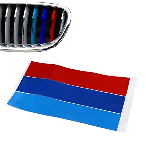 FAMILIZO Pegatinas de Pared Rejilla Riñón M Sport Stripe 3 Color Calcomanía Vinilo Pegatina Para Bmw Todos Habitacion Pegatinas De Pared Decorativas