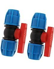 B Blesiya 2 Unids Válvulas de Plástico PE - Válvula Recta Núcleo de Acero o Núcleo de Plástico 20mm/25 mm/32 mm