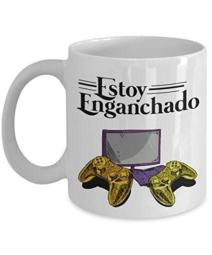 WTOMUG Estoy Enganchado Gaming Art Coffee & Tea Gift Mug For Spanish Speaking Laptop Gamer, Computer Gamer, Desktop Gamer, Xbox Gamer & PS4 Gamer Dad Or Boyfriend With Hispanic Culture (11oz)