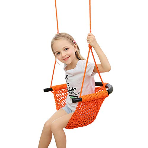 XWSD Kids Swing Seat, with Adjustable Ropes, Strong Bearing Capacity, the Soft Anti Collision Strip, So That Children Can Play Happily and Parents
