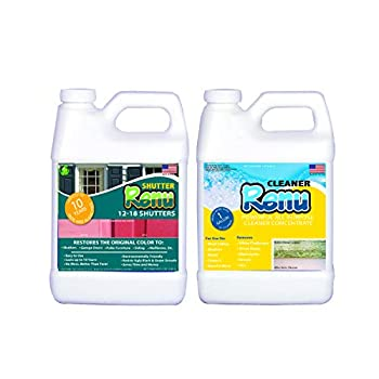 Shutter Renu 12-18 Shutter Kit--Restores Original Color And Shine To Faded Shutters Immediate Results Apply Once Every 10 Years No Toxic Odors Or Solvents.