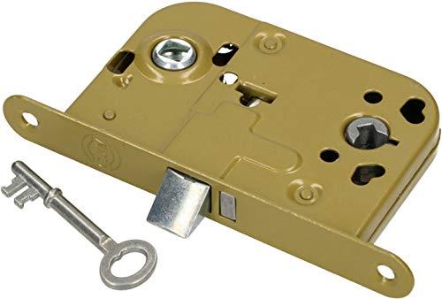 KOTARBAU Einsteckschloss BB 72 / 45mm DIN Links/Rechts Schlüssel Universal Zimmertürschloss Türschloss Stahl Pulverbeschichtet Rostfrei Robust