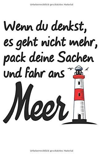 Meer Ostsee Nordsee Leuchtturm: Notizbuch 120 Seiten Notiz & Notizheft DIN A5 Blanko