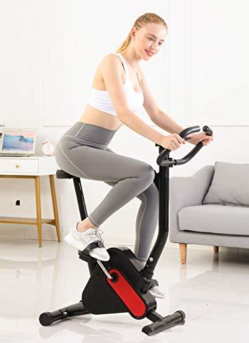 TZCC Bicicleta de Ejercicio Plegable para el hogar, con Pantalla LCD, Bicicleta de Ejercicio Inteligente de Resistencia a la Velocidad, Perder Peso, para Hombres, Mujeres y niños