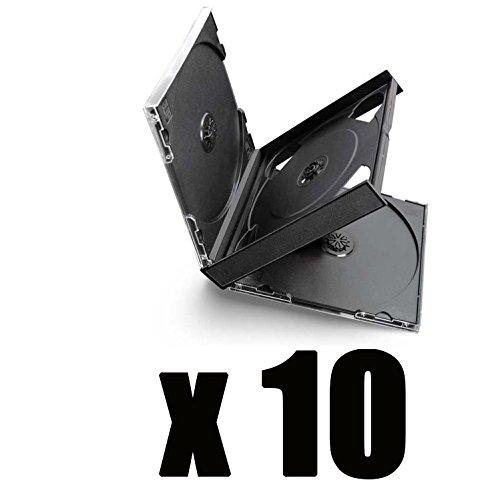 10 cajas de 4 CD negras.