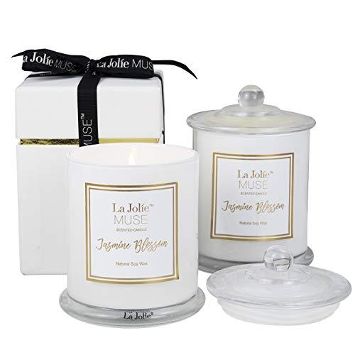 La Jolíe Muse - Velas perfumadas (2 Unidades), diseño de jazmín