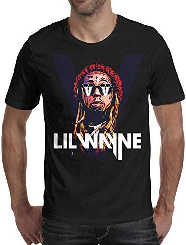 JENNIFER JOHNSONddt Mens Lil-Wayne-Logo-White- Cotton Short Sleeved Tee Shirts,Large