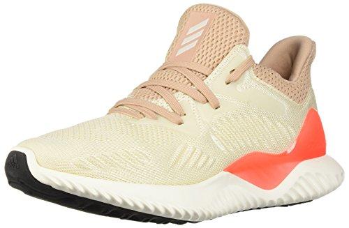 adidas Unisex-Kids Alphabounce Beyond j Sneaker, Linen, Chalk White, Ash Pearl s, 3.5 M US Big Kid