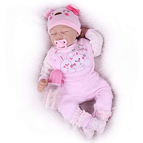 Kaydora Sleeping Reborn Baby Dolls, 22inch Reborn Baby Girl, Cute Lifelike Realistc Reborn Baby Doll for Girl Age 3+