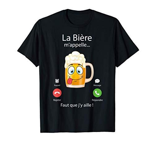 Homme La bière m'appelle ! humour biere homme T-Shirt