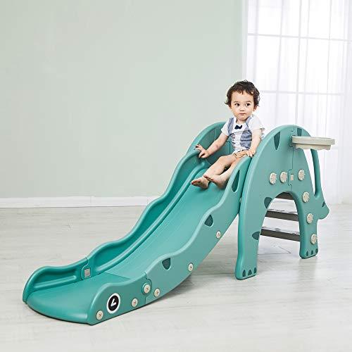 Avior Kids Dinosaurierrutsche, Grün, Kinderrutsche Gartenrutsche
