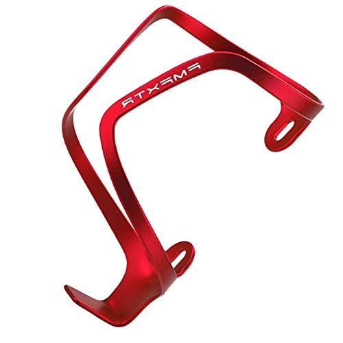 Cipliko Supporto Portaborraccia per Bicicletta,Portabottiglie Sportivo Leggero in Alluminio Nero Monopezzo Antiurto Adatto per Bici da Strada E Mountain Bike. Essenziale per La Guida