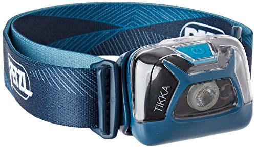 PETZL, Tikka Outdoor Headlamp with 300 Lumens for Camping and Hiking[a], Blue