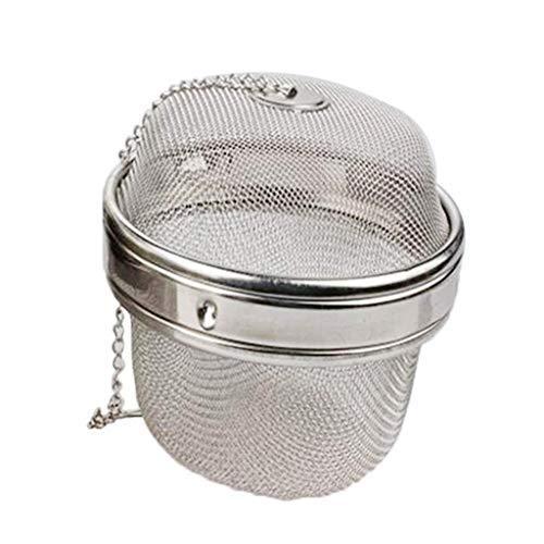 SGerste Tee-Ei, Kugel-Sieb, großes Fassungsvermögen, zum Aufhängen in Teekannen, Tassen, um lose Teeblätter, Gewürze, Kräuter, zu Hause oder im Restaurant zu verwenden (11 cm)